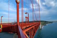 строб моста золотистый Стоковое фото RF