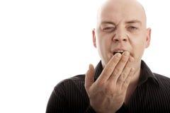 облыселым зевок утомлянный человеком Стоковые Фотографии RF