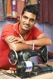 ινδικός ράφτης πορτρέτου ατόμων Στοκ εικόνα με δικαίωμα ελεύθερης χρήσης