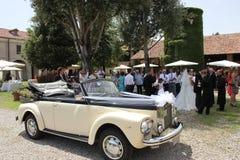 庭院结婚宴会 免版税库存图片