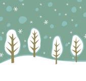 Предпосылка зимы Стоковое Изображение