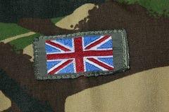 英国国旗徽章 免版税库存照片