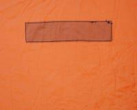 Прямоугольник сшил в виниле Стоковое Изображение RF