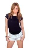 青少年的反叛女孩 免版税图库摄影