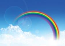 Ουρανός και ουράνιο τόξο Στοκ φωτογραφία με δικαίωμα ελεύθερης χρήσης