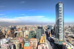 惊人的城市天线射击 免版税库存照片