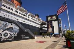 女王玛丽海洋游轮划线员 免版税库存图片