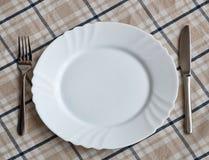 吃饭的客人器物 免版税库存照片