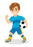 足球孩子 免版税库存照片