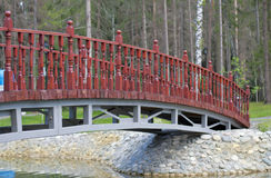 Мост через пруд Стоковые Изображения