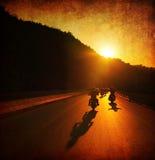 Езда мотоцикла Стоковая Фотография