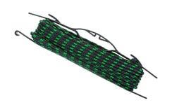 在持有人受伤的绿色和黑色绳索 库存图片