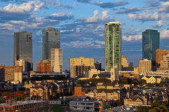 沃斯堡得克萨斯都市风景  免版税库存照片