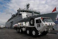 联合国通信工具在贝鲁特 免版税库存照片