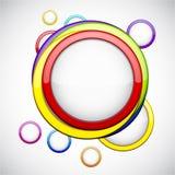 与光滑的圈子的五颜六色的背景。 库存图片