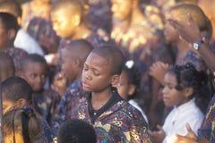 非洲裔美国人的青年唱诗班, 免版税库存照片