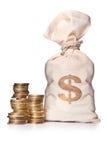 货币袋子 免版税库存图片
