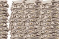 Στοίβες των ευθυγραμμισμένων ταμπλετών εγγράφου Στοκ φωτογραφία με δικαίωμα ελεύθερης χρήσης