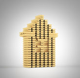 Золото в слитках дома Стоковое Изображение RF
