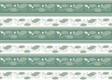 Άνευ ραφής πρότυπο με τα άσπρα λουλούδια Στοκ Εικόνες