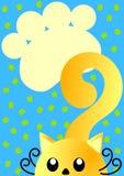Карточка приглашения с печатями кота и лапки Стоковое Изображение