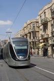 Трам рельса Иерусалима светлый Стоковые Фотографии RF