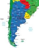 Карта Аргентины Стоковые Фотографии RF