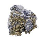 有方铅矿的硫铁矿晶族 免版税库存照片