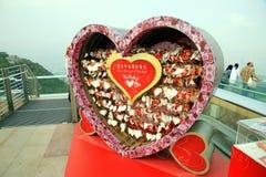 在维多利亚峰顶的爱消息 免版税图库摄影