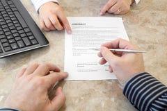 签合同 免版税图库摄影