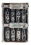 古色古香的轻碰编号模拟量显示 免版税图库摄影