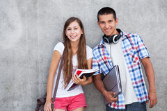 Счастливые студенты Стоковое Изображение