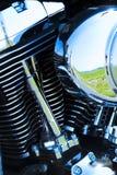 详述引擎摩托车 免版税库存照片