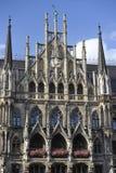 新的城镇厅,慕尼黑,巴伐利亚,南部德国 免版税库存照片