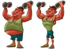 肥胖和大力士 免版税库存照片