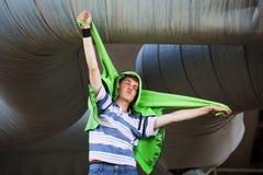 Τρελλός νεαρός άνδρας Στοκ Εικόνες