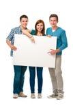 Группа в составе подросток с знаменем Стоковая Фотография