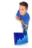 Человек с пересеченными рукоятками Стоковое фото RF
