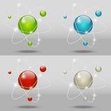 Атомные иконы Стоковое Фото