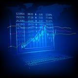 股市列表 免版税库存照片