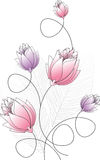 Причудливая конструкция цветка Стоковое фото RF