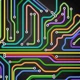 Γραμμές μετρό χρώματος με τα βέλη Στοκ Εικόνες