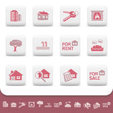 Επαγγελματικό σύνολο επιχειρησιακών διανυσματικό εικονιδίων ακίνητων περιουσιών Στοκ εικόνα με δικαίωμα ελεύθερης χρήσης