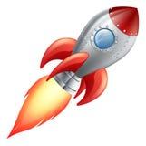 Διαστημικό σκάφος πυραύλων κινούμενων σχεδίων Στοκ εικόνα με δικαίωμα ελεύθερης χρήσης