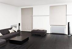 一部分的现代客厅内部 免版税库存照片