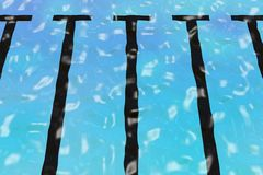 起波纹的池 图库摄影