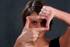重点妇女年轻人 免版税库存照片