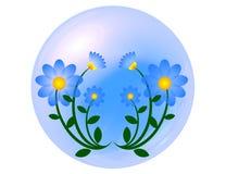 蓝色花球 库存图片