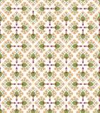 Безшовная текстура с флористическим орнаментом Стоковое Фото