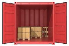 与货物的容器。 免版税图库摄影